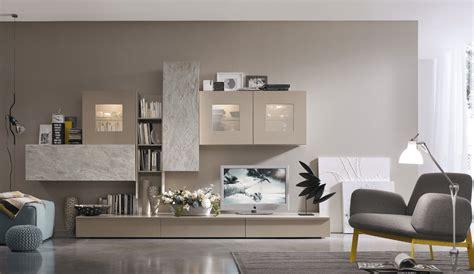 idee parete soggiorno parete attrezzata moderna