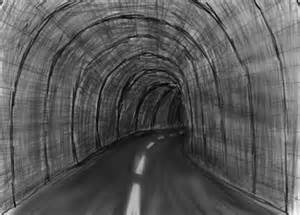 tunnel by daxefapu black white drawing