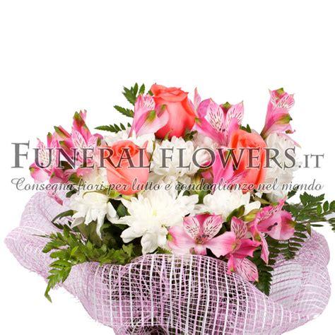 fiori funebri bouquet di fiori funebri tonalit 224 arancio spedizione con