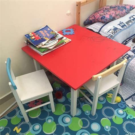 Meja Belajar Kanak Kanak meja dan 4 kerusi belajar kanak kanak sempernaraya rumah