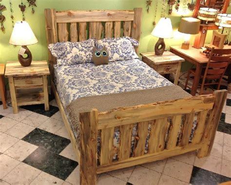 colorado blue pine rustic bed
