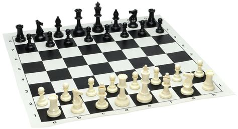 Chess Top tournament chess set filled chess pieces and black roll up vinyl chess board board messiah