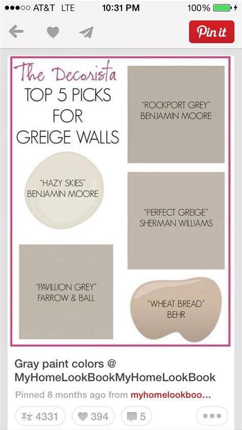 greige paint colors for the home