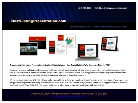 Best Real Estate Listing Presentation For Ipad Listing Presentation Template
