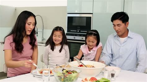 attractive asian family together stock footage