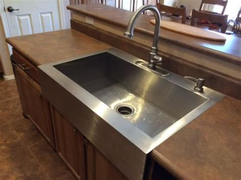 Stainless Steel Drop In Sink Lowes Kitchen Sinks Home
