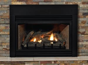 gas log insert for fireplace gas fireplace and logs heating cooling