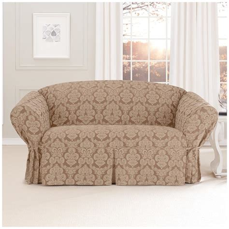 surefit couch slipcovers sure fit 174 middleton loveseat slipcover 581236 furniture
