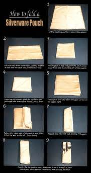 How To Fold Silverware In Paper Napkins - basic silverware pouch fold napkin folding