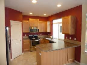 brown paint color for kitchen accent wall interior