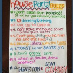 house party rules party ruled on pinterest party rules house party rules and 21st birthday parties