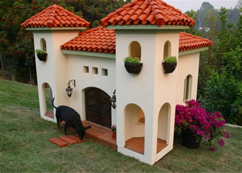 amazing dog houses celebrity hacienda dog house
