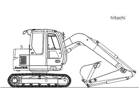 mini excavator coloring pages tractor backhoe coloring page sketch coloring page