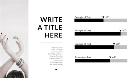 black white clean keynote template by 5yue graphicriver