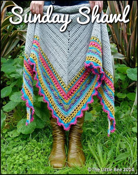 Pashmina Motif Flowers 1 crochet shawl pattern instant sunday shawl