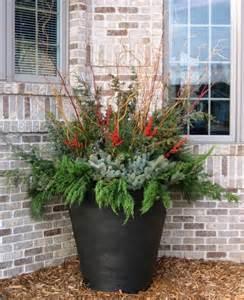 outdoor arrangements holiday pinterest