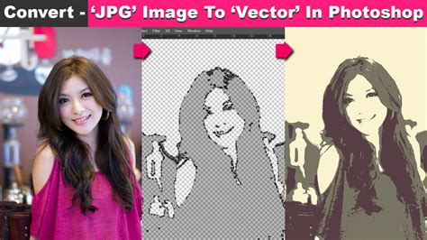 convert image to pattern in photoshop convert jpg image to vector in photoshop cc tutorial youtube