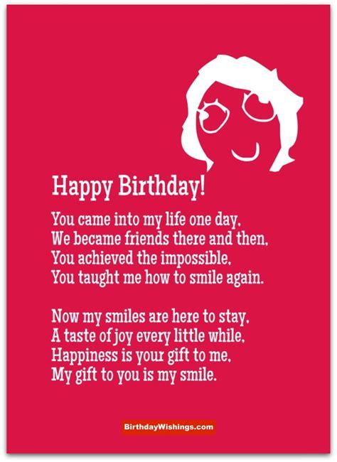 Ee  Birthday Ee   Poem For Best Friend Birthdaywishings M