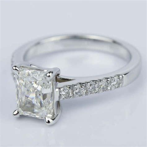 2 carat trellis radiant engagement ring