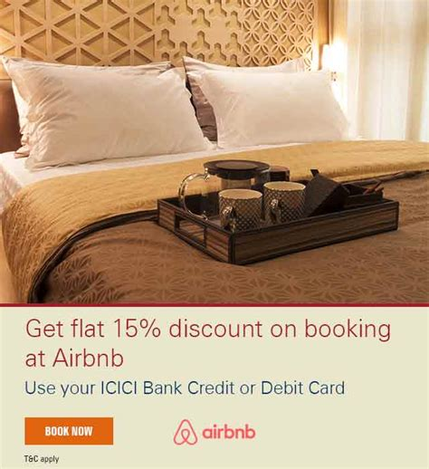 airbnb debit card icici bank airbnb offer