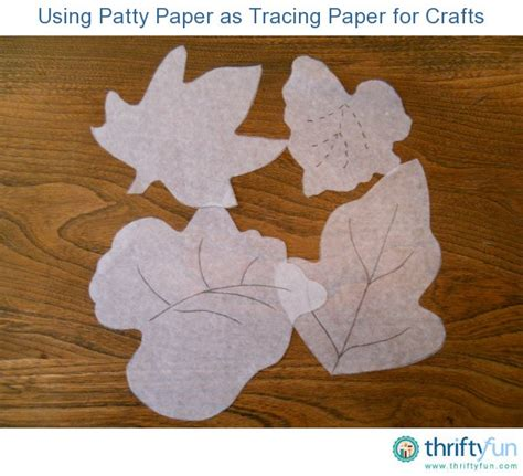 Tracing Paper Crafts - using patty paper as tracing paper for crafts thriftyfun