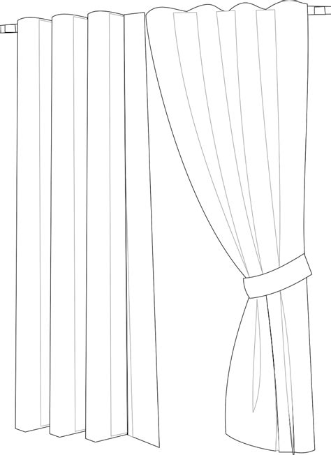 curtain outline 56 curtain images clip art