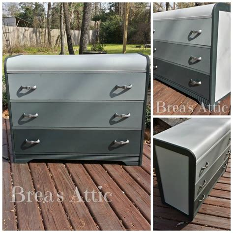 shades of blue ombre chest of drawers dresser changing antique waterfall dresser in 4 shades of grey ombre style
