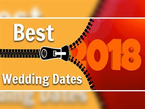 2018: Lucky Dates That Are Best For Weddings According To