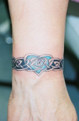 tattoo arm wrist celtic tattoos for women celtic wrist band with heart