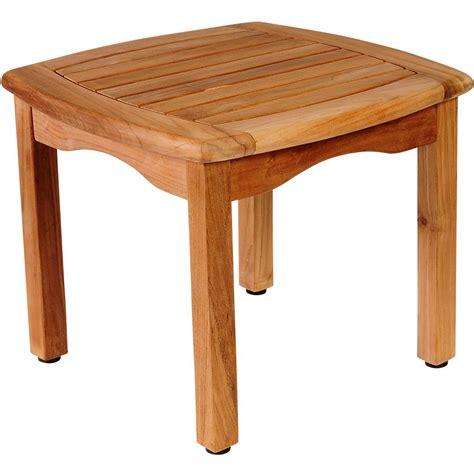 Barnsdale Teak Patio Accent Table Amazonia Intan Teak Patio End Table Ultimate Patio