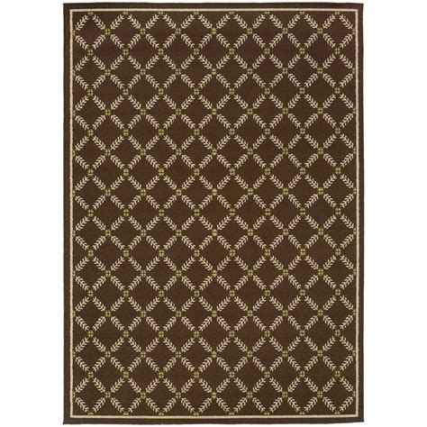 7 X 10 Outdoor Rug Home Decorators Collection Seaside Brown 7 Ft 10 In X 10 Ft 10 In Outdoor Area Rug