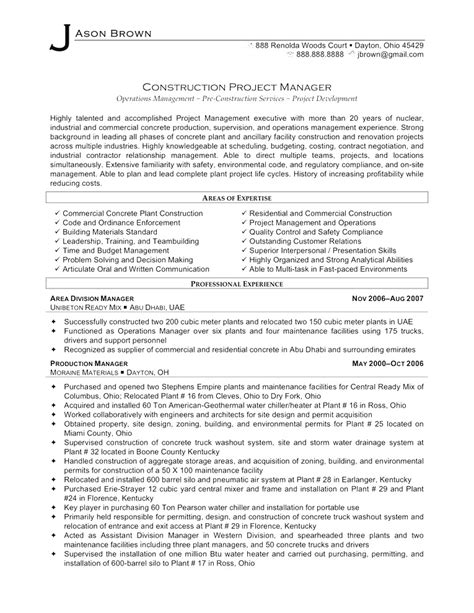 Resume Sle For Project Manager by Best Functional Resume Exles Project Manager Best Ideas Of Project Management Resume