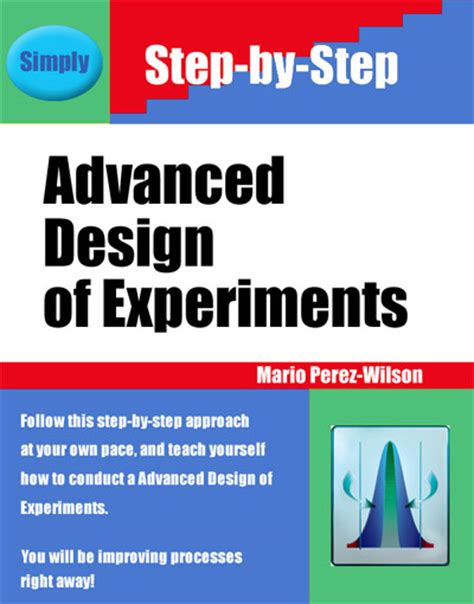 design experiment book advanced design of experiments on site training course