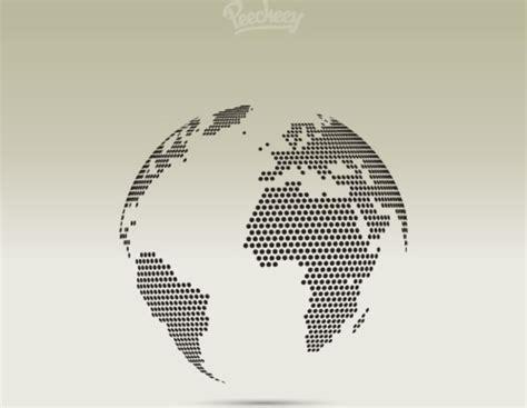 dot pattern globe dotted globe free vector in adobe illustrator ai ai