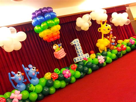 Birthday Decoration Ideas At Home With Balloons 1st Birthday Balloon Decoration Ideas Decoration