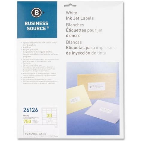 templates for business source labels business source mailing inkjet label bsn26126 shoplet com