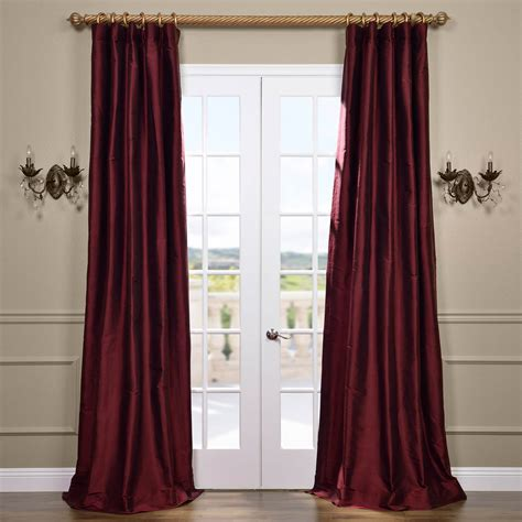 silk curtains online half price drapes merlot thai silk curtain ss smr04