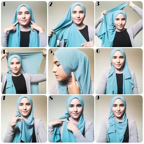 Jilbab Segi Empat Yg Lagi Trend 1000 images about simple tutorial on