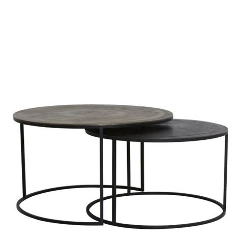 Salontafel Rond Koper by Salontafel Koper Affordable Set Van Ronde Salontafels