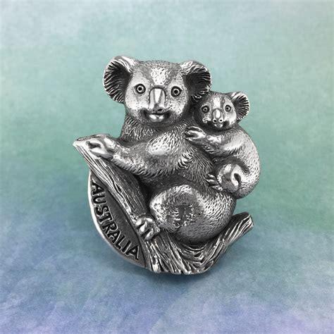 Gosir Magnet Kulkas Koala Australia koala australian souvenir pewter magnet oz studios
