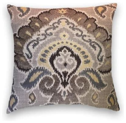 brown grey yellow throw 20x20 pillow cover traditional