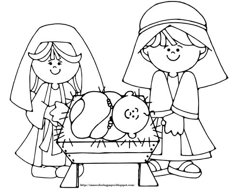 Baby jesus coloring page baby jesus mary and joseph coloring page