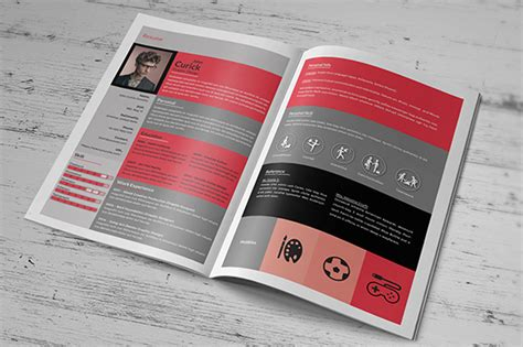 resume booklet template creative resume booklet resume templates on creative market