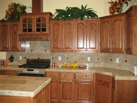 Oak Kitchen Countertops by Cabinets By Andy Stained Oak Kitchen