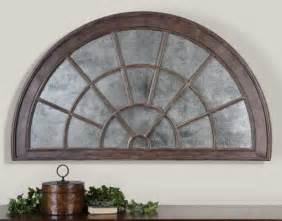Arch Wall Decor by Large Antiqued Mirrored Arch Wall Plaque Overdoor By