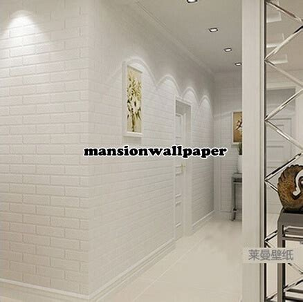 Wallpaper Bata Putih Wallpaper Bata Abu Stiker Dinding Bata Putih jual wallpaper dinding bata putih mansion wallpaper