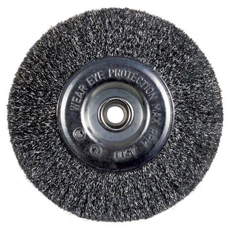 bench wire wheel avanti pro 6 in bench wire wheel coarse pww060cort01g