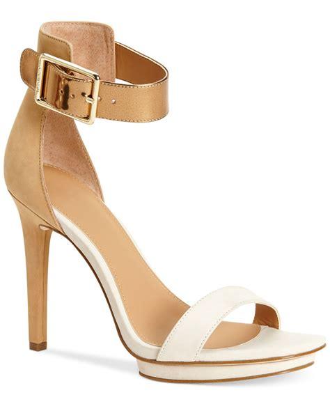 sand sandals calvin klein s vable sandals in beige white sand
