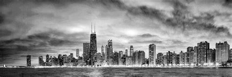 Apps For Floor Plans Ipad by Chicago Gotham City Skyline Black And White Panorama
