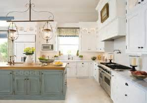 Distressed Turquoise Kitchen Cabinets Enchanting Distressed Turquoise Kitchen Island And White Painted Kitchen Cabinets Ideas Also